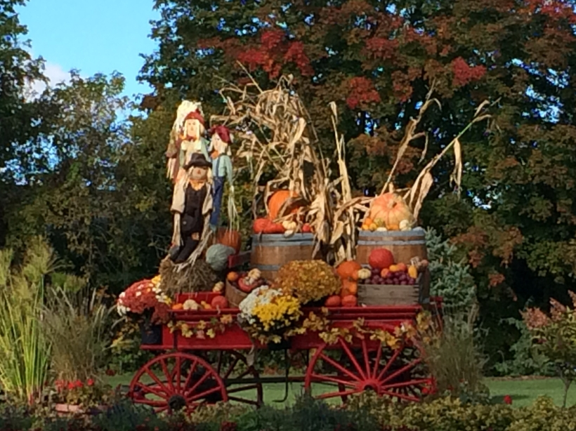 Seasonal decorations in St Armand, Quebec, October 2015.