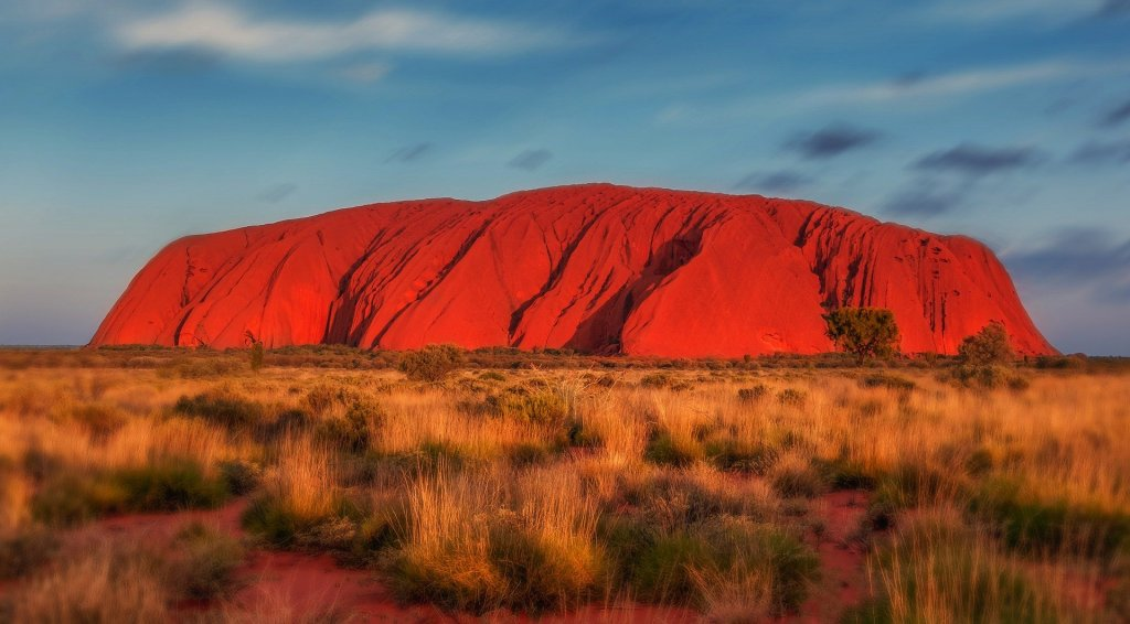 An image of Uluru, a famous Australian monolith.